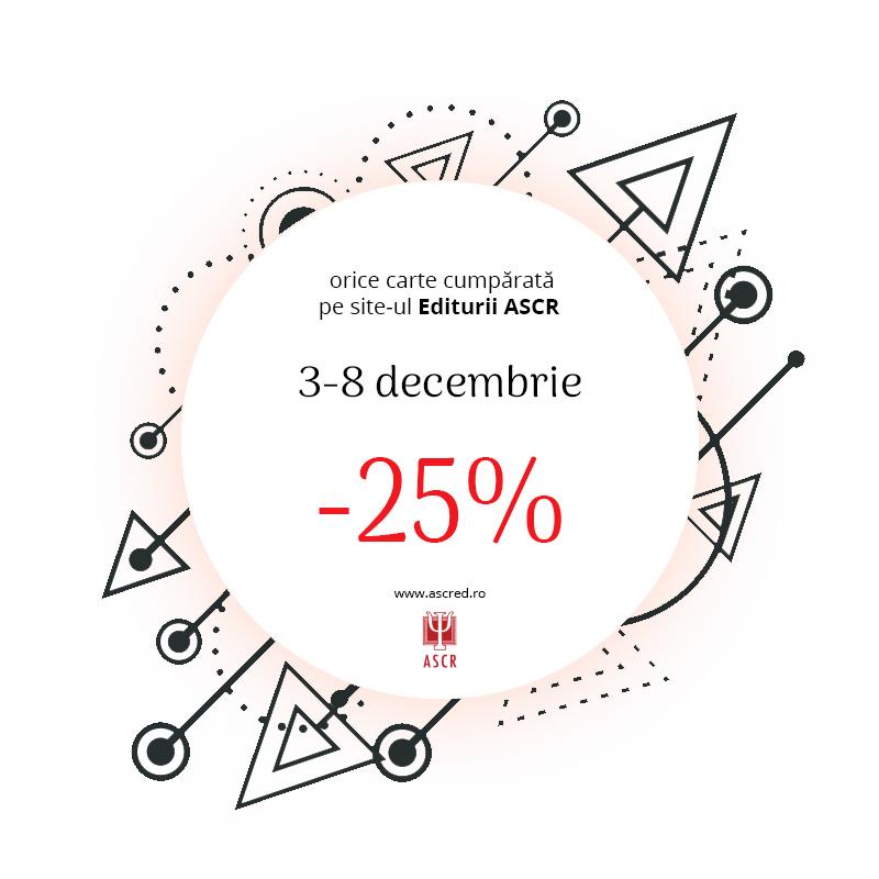 Orice carte cumpărată pe site-ul Editurii ASCR -25%